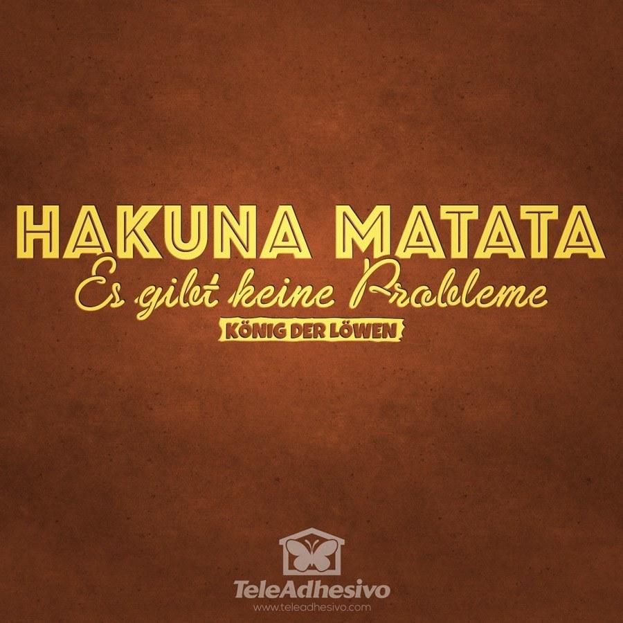 Wandtattoos: Hakuna Matata in Deutsch