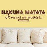 Wandtattoos: Hakuna Matata in Englisch 2