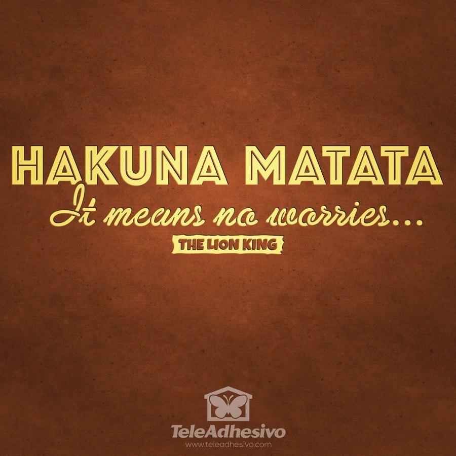 Wandtattoos: Hakuna Matata in Englisch