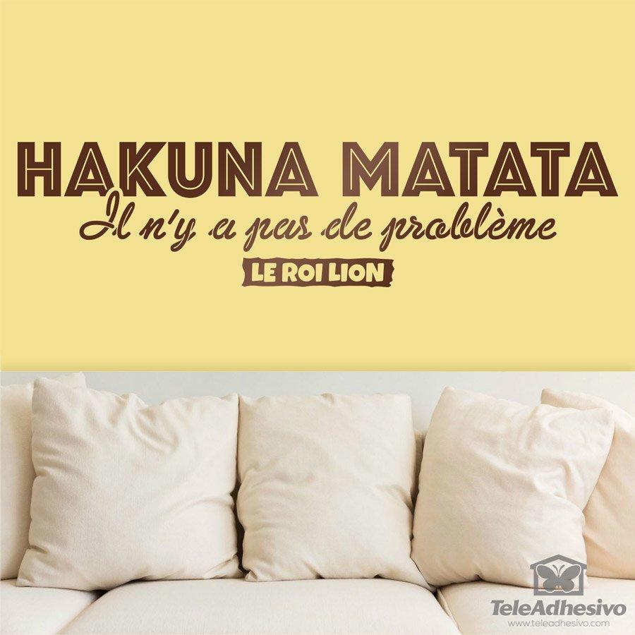 Wandtattoos: Hakuna Matata in Französisch