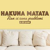 Wandtattoos: Hakuna Matata in Italienisch 1