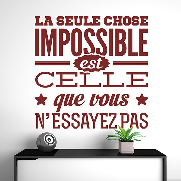 Wandtattoos: La seule chose impossible...