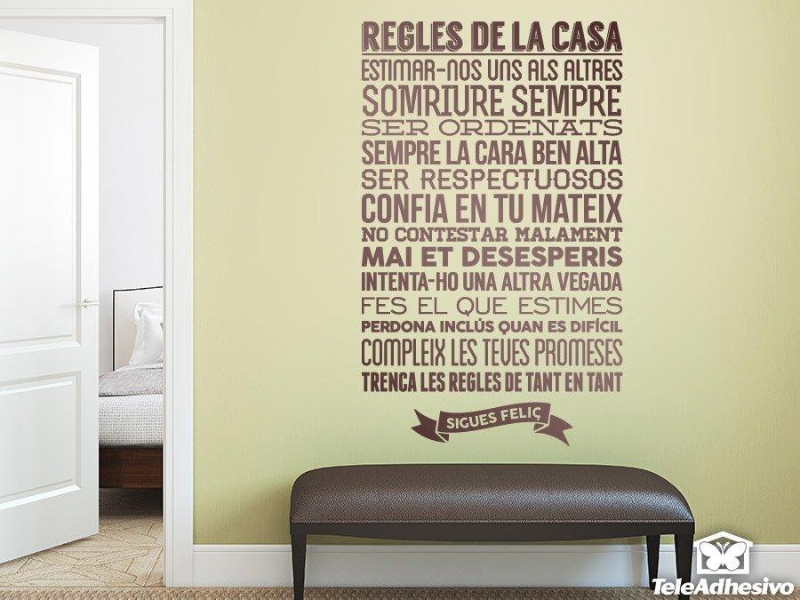 Wandtattoos: Regles de la casa