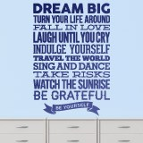 Wandtattoos: Dream big and be yourself 2
