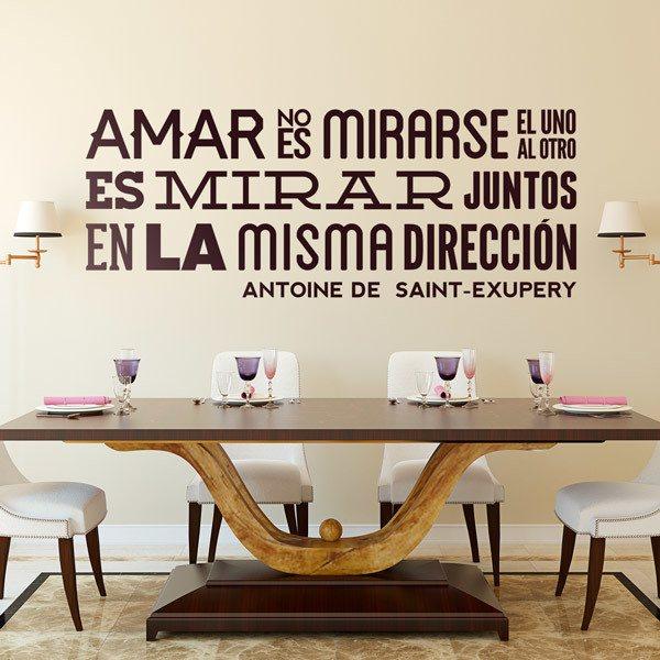 Wandtattoo Amar No Es Mirarse Antoine De Saint Exupery