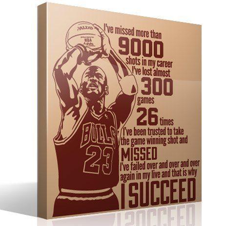 Wandtattoos: The success of Michael Jordan
