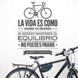 Wandtattoos: La vida es como montar en bicicleta... 2