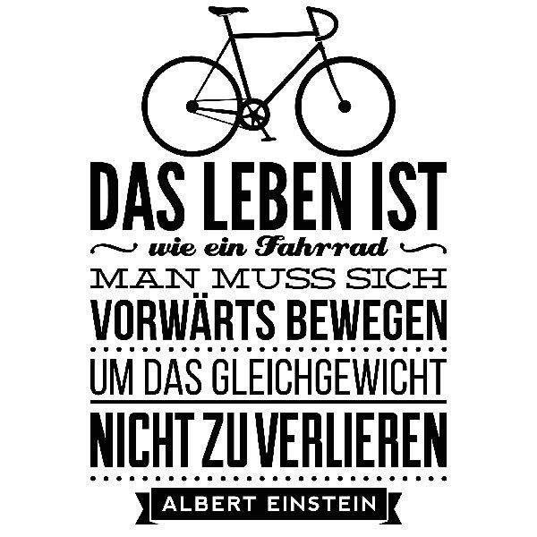 Das Leben Ist Wie Ein Fahrrad : wandtattoo das leben ist wie ein fahrrad ~ Orissabook.com Haus und Dekorationen