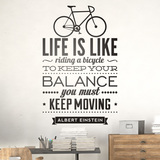 Wandtattoos: Life is like riding a bicycle 0
