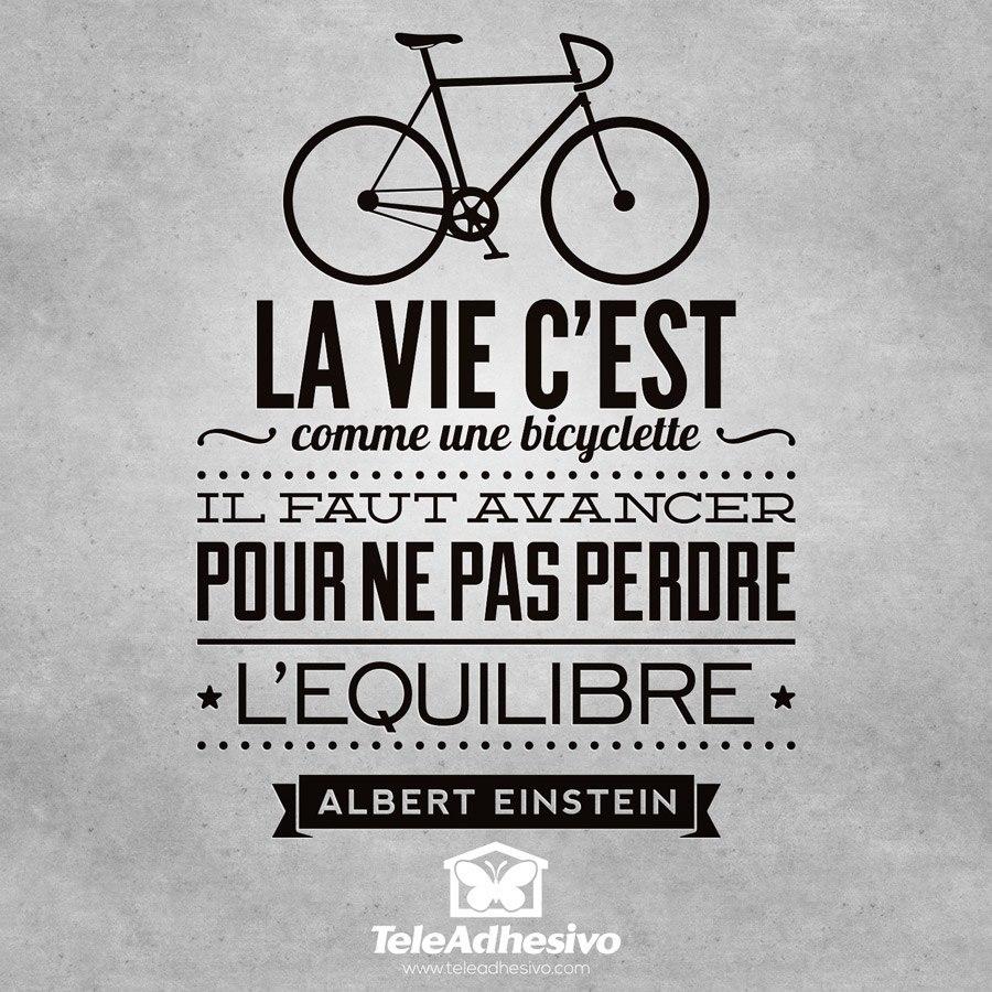 Wandtattoos: La vie c est comme une bicyclette