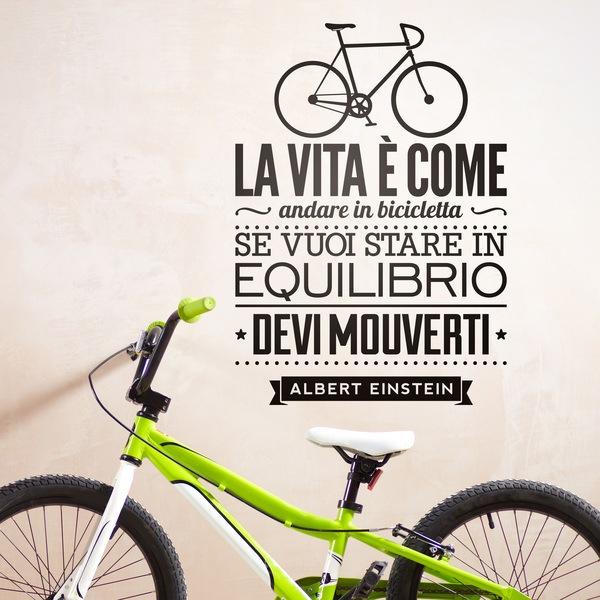 Wandtattoo La Vita è Come Andare In Bicicleta Webwandtattoocom
