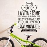 Wandtattoos: La vita è come andare in bicicleta 0