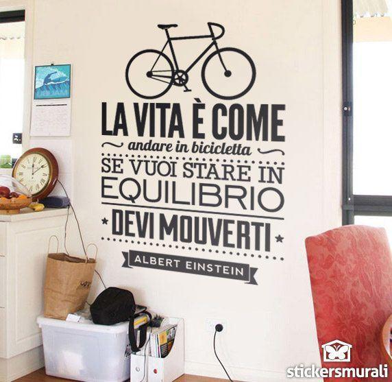 Wandtattoos: La vita è come andare in bicicleta