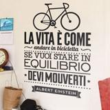 Wandtattoos: La vita è come andare in bicicleta 2