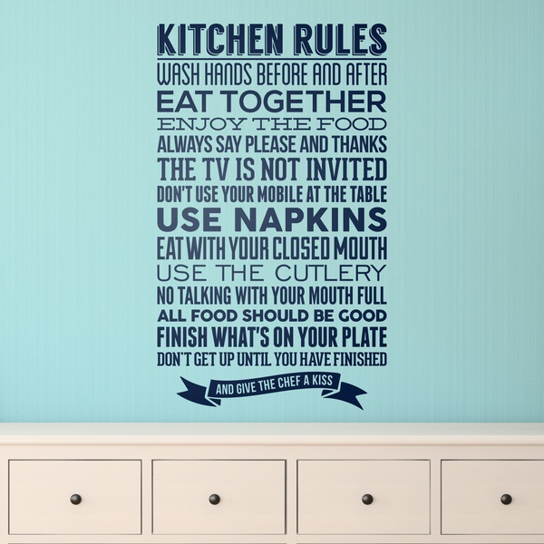 Wandtattoos: Kitchen Rules