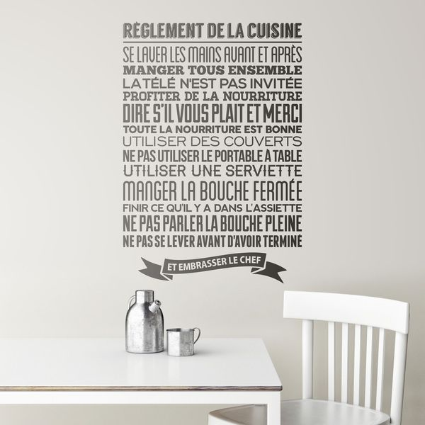 Wandtattoos: Regeln Der Küche   Französisch