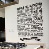 Wandtattoos: Regole de la Cucina 0