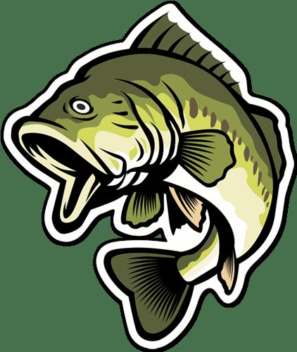 Aufkleber: Black Bass