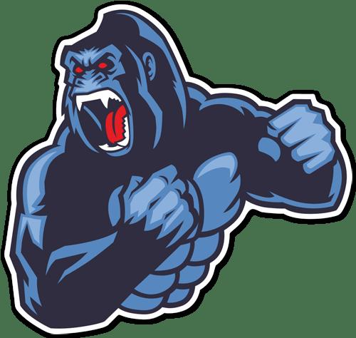 Aufkleber: Gorilla