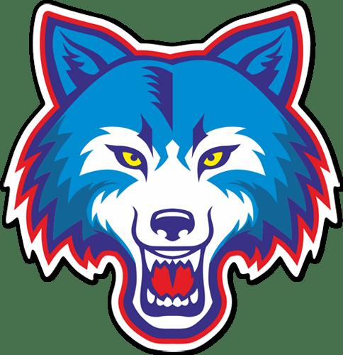 Aufkleber: Wolfskopfhead