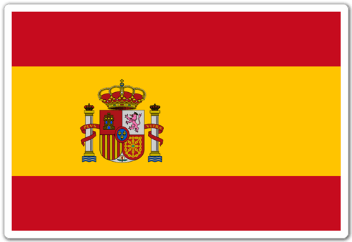 Aufkleber: Spanien-Flagge
