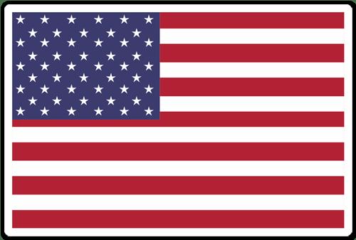 Aufkleber: USA