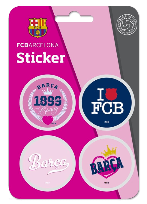 Aufkleber: Kit FC Barcelona 4 Stickers