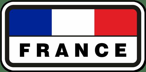 Aufkleber: France