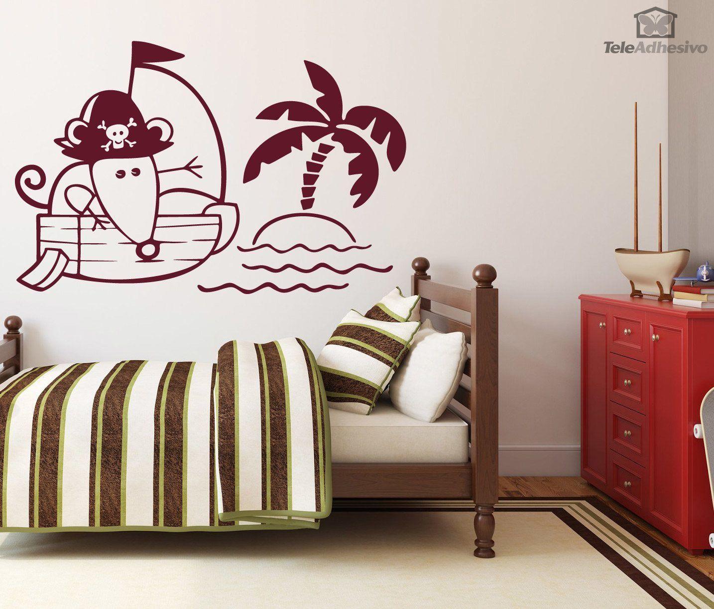 wandtattoo kinder maus auf piratenschiff. Black Bedroom Furniture Sets. Home Design Ideas