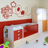 Kinderzimmer Wandtattoo: Flugzeug 3