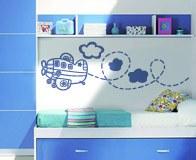 Kinderzimmer Wandtattoo: Flugzeug 4