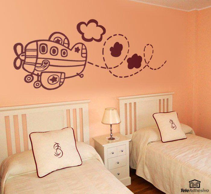 Kinderzimmer Wandtattoo: Flugzeug