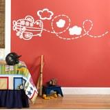 Kinderzimmer Wandtattoo: Flugzeug 8
