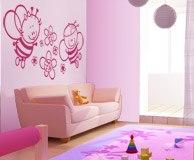Kinderzimmer Wandtattoo: Biene mit Blumen 7