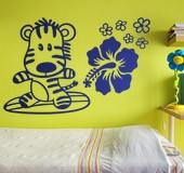 Kinderzimmer Wandtattoo: Surfero 3