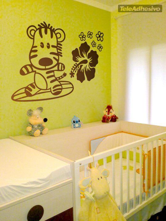 Kinderzimmer Wandtattoo: Surfero