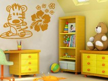Kinderzimmer Wandtattoo: Surfero 7