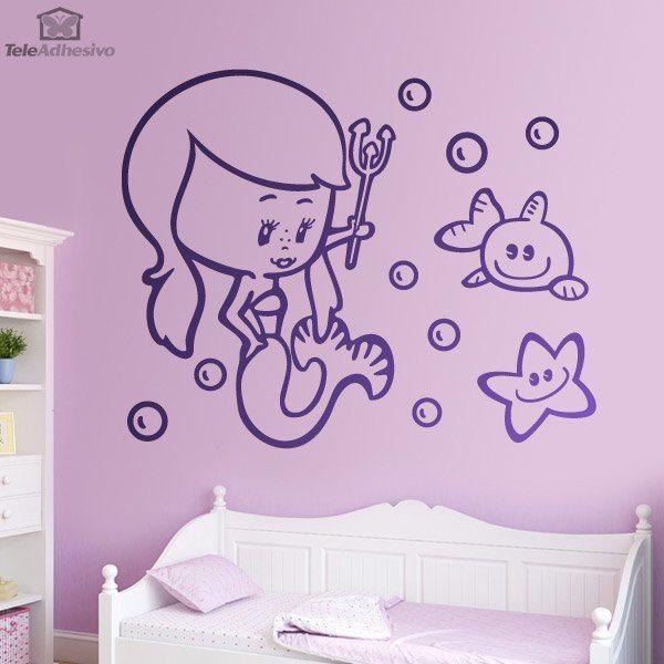 Kinderzimmer Wandtattoo: Sirenita