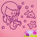 Kinderzimmer Wandtattoo: Sirenita 4