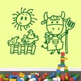 Kinderzimmer Wandtattoo: Granjero 5