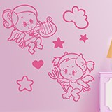 Kinderzimmer Wandtattoo: Engel und Teufel 3