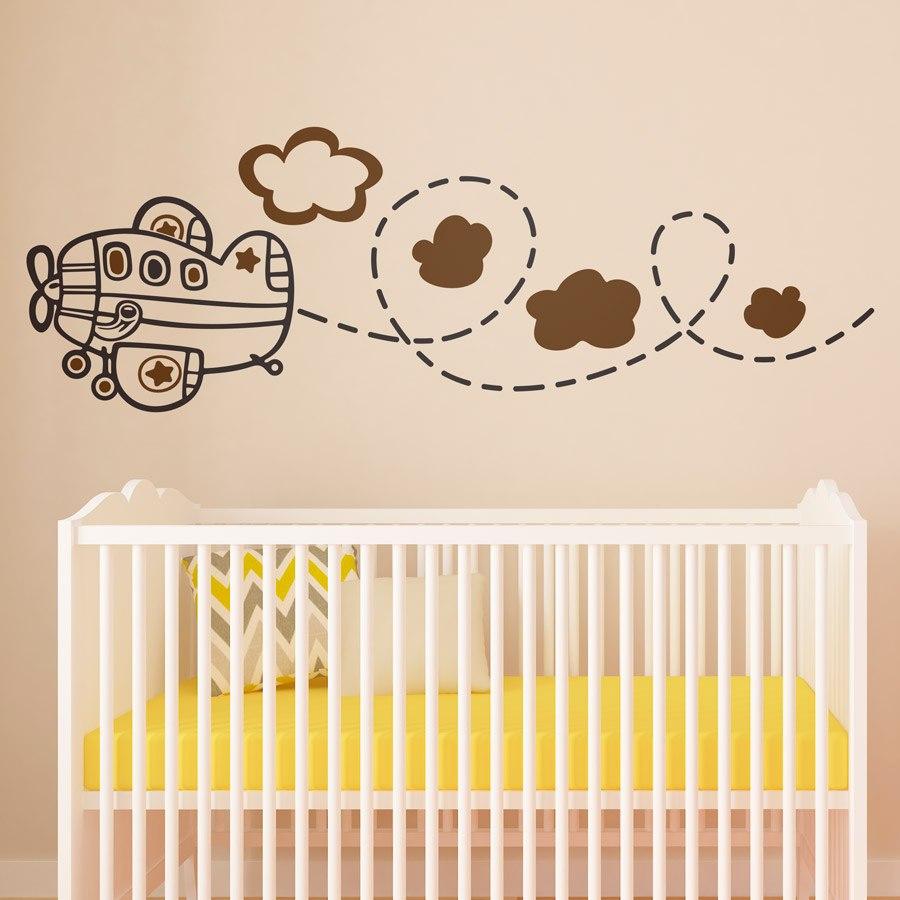 Kinderzimmer Wandtattoo: Avioneta multicolor