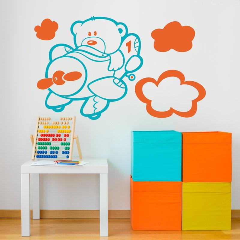 Kinderzimmer Wandtattoo: Mehrfarbig Aviator