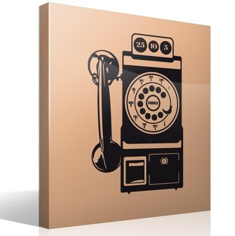 Wandtattoos: Telefonzelle Vintage
