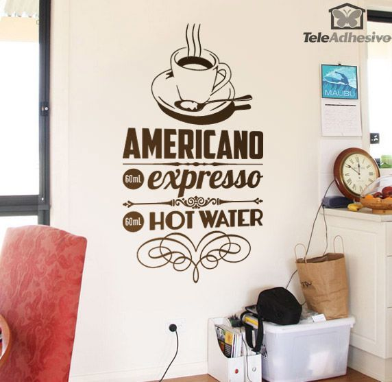 Wandtattoos: American Coffee