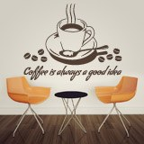 Wandtattoos: Coffee is always a good idea 2
