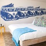 Wandtattoos: 5 Surfer VW Vans 2