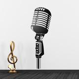 Wandtattoos: Vintage-Mikrofon 0