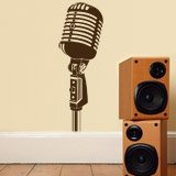 Wandtattoos: Vintage-Mikrofon 3