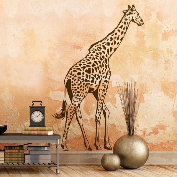 Wandtattoo Giraffe In Voller Lange Webwandtattoo Com